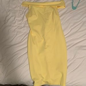 Yellow Off the Shoulder Dress from Fashion Nova